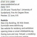 Artcast anMagazine June 07 advert pg 17 whats on